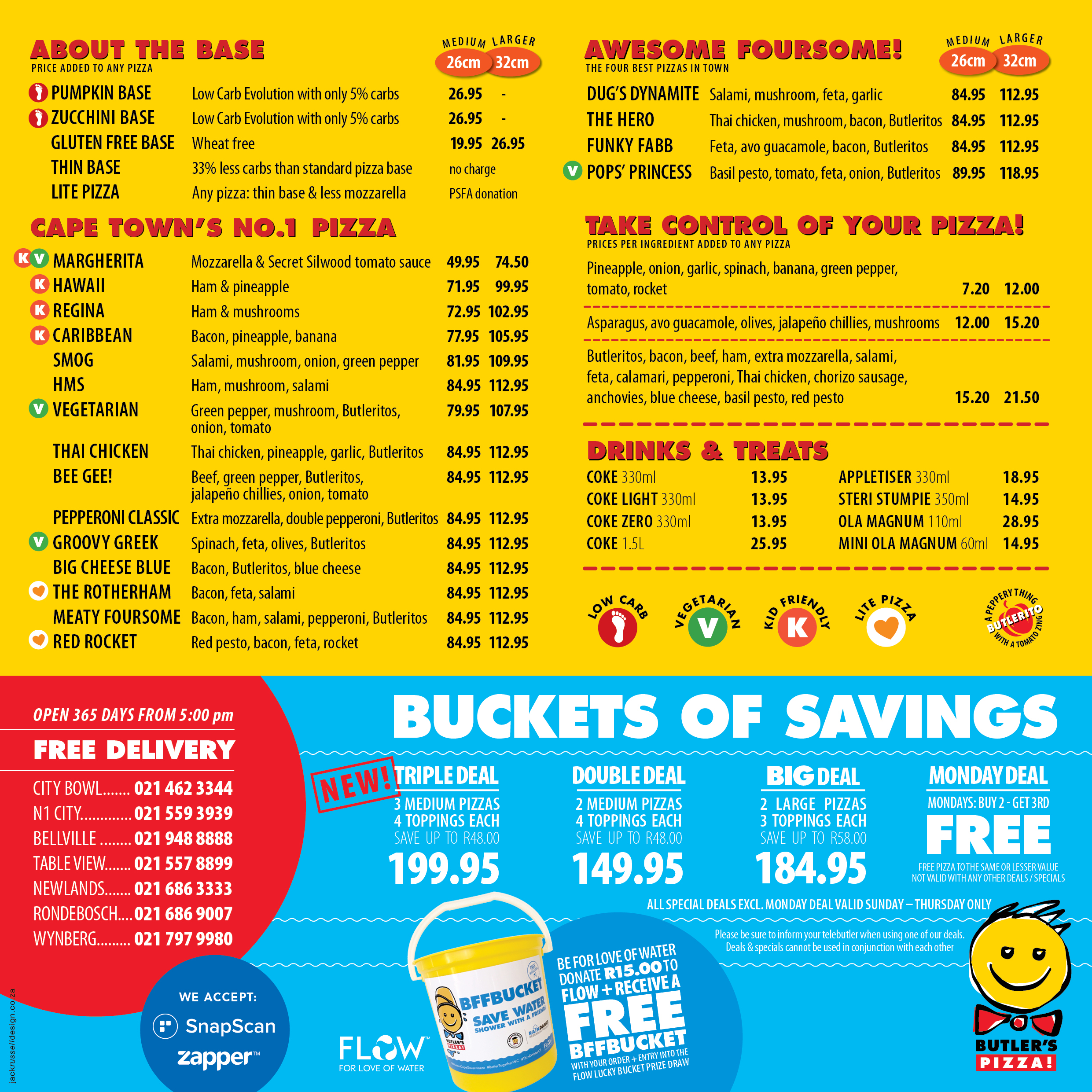 Butler's Pizza - Delivery Menu