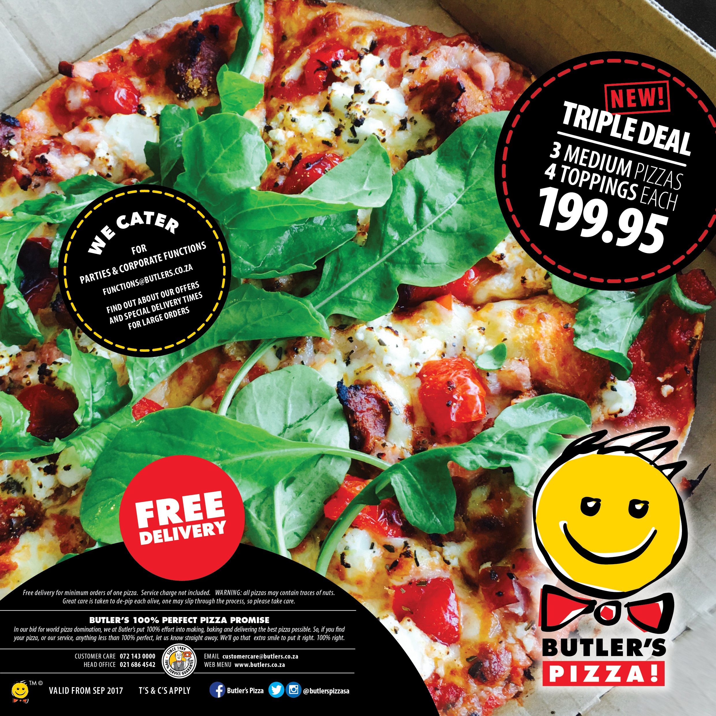 Butler's Pizza Menu - Cape Town's No.1 Pizza!