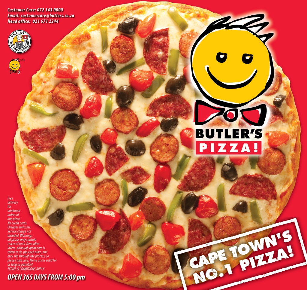 Butler's Pizza Menu